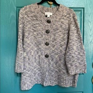 CJ Banks Button Up Sweater - 1X